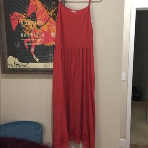 Free People Pink Maxi Dress-Lightly Used